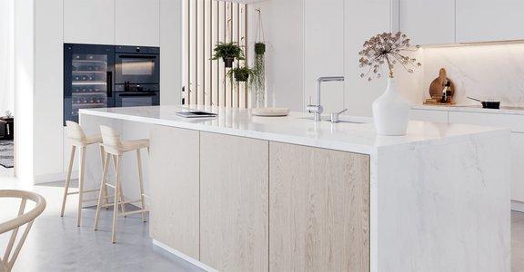 V-Zug weiße Küche